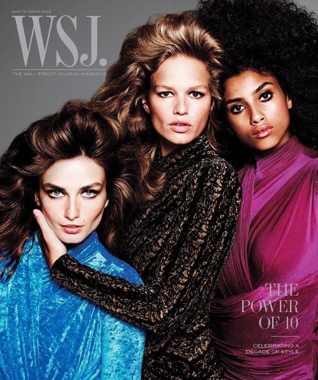 e3656fca5ff2 WSJ Magazine Wins September With This Cover Model Extravaganza