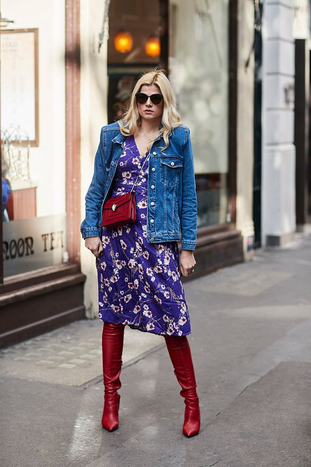 dc67bddf905f2 13 Jean Jacket Outfit Ideas for the In-Between Season