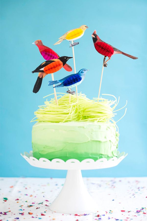 Honeycomb Bird Cake Toppers Diy Oh Happy Day Bloglovin