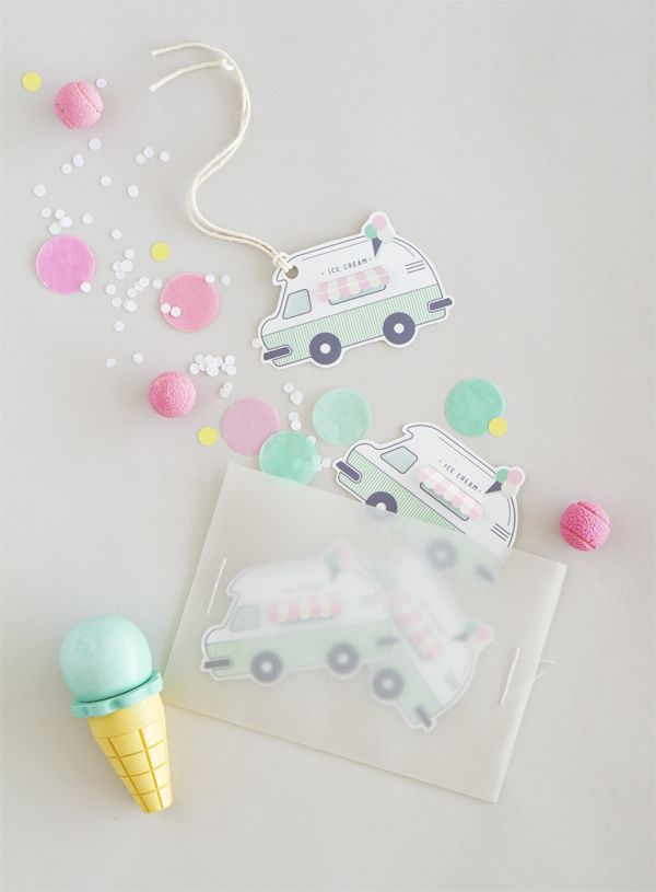 Free Printable Ice-Cream Truck Gift Tags | Oh Happy Day
