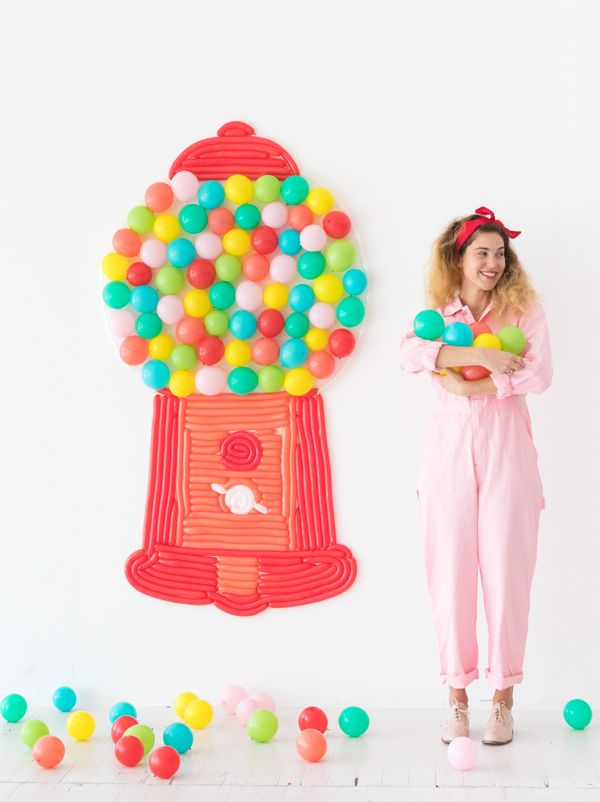 Gumball machine balloon wall oh happy day bloglovin a classic red gumball machine with giant gumball balloons in all the pretty colors it would bring pure joy to a party guaranteed pronofoot35fo Images