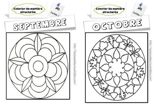 Colorier de mani re structur e ms la classe de luccia bloglovin - Mandalas cycle 3 ...