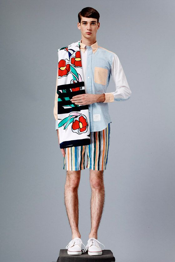 68e6ac44303 Thom Browne enlisted models Botond Cseke and Corentin Renault to star in  his Spring Summer 2015 lookbook.