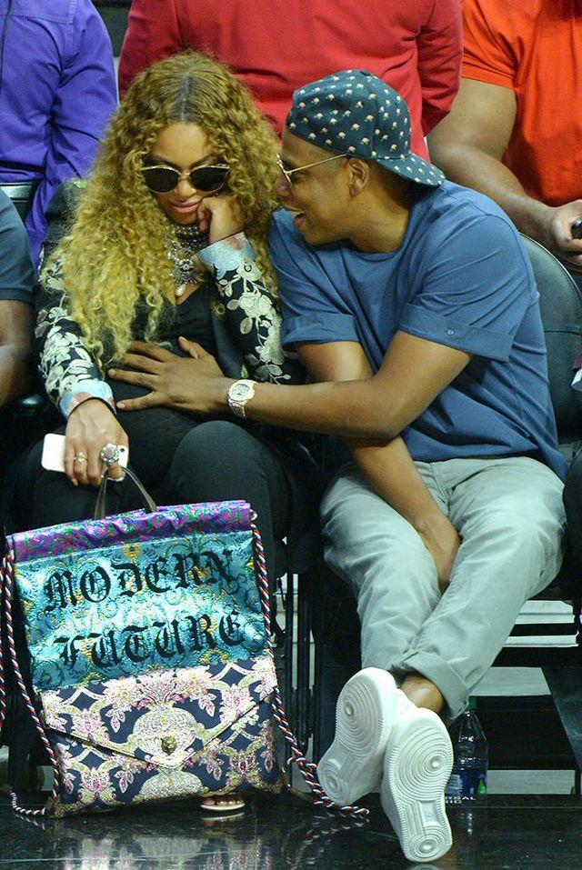 919d24b99707 Splurge  Beyonce Knowles s LA Clippers Gucci Marsielle Floral ...