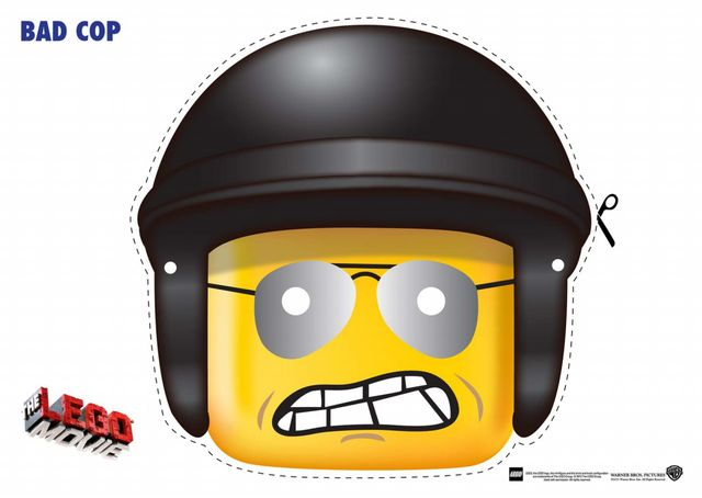 LEGO Movie Face Mask Cutouts Just Click On The Image To Download And Print