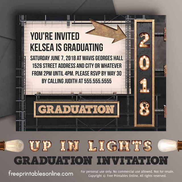 to customize this 2018 graduation invitation with your own text download the pdf file below and type into the spaces provided or delete the text