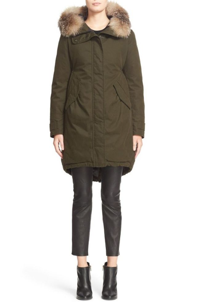 55457d64213 I don t own a down coat and I think this might be the winter I break down  and buy one. I love that this Moncler  Evanthia  Down Cotton Jacket with  Removable ...