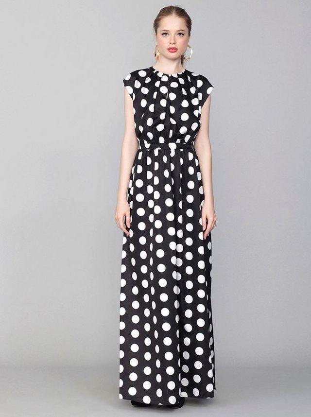 heidi klum se va de boda con un vestido de lunares | trendencias