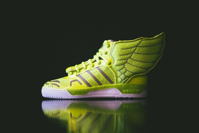 best website e6e4f 3dbbb adidas Originals by Jeremy Scott Mesh Wings 2.0 Electric