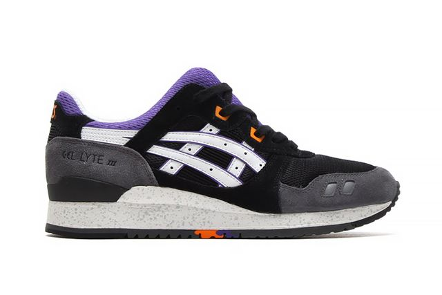 3562a64718749 ASICS Gel Lyte III Black Purple Orange