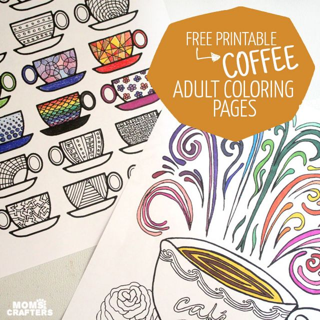 Free Printable Coloring Pages for Adults: Coffee Cups! Craft Gossip Bloglovin