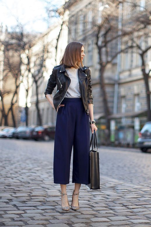 A Blogger Approved Way To Wear A Leather Jacket To Work