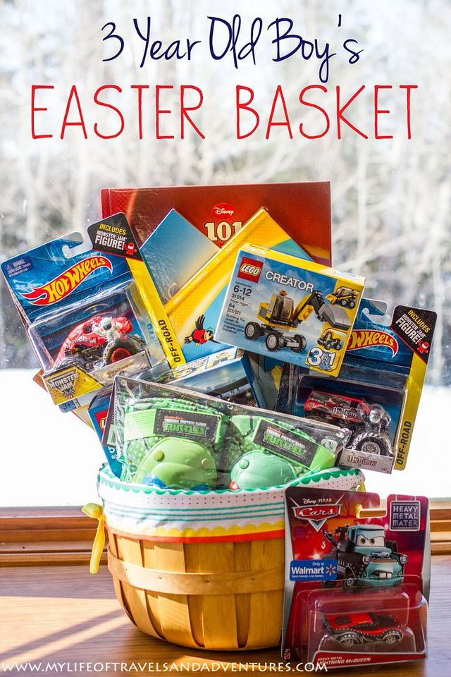 My 3 year old boys easter basket with no candy my life of my 3 year old boys easter basket with no candy negle Images