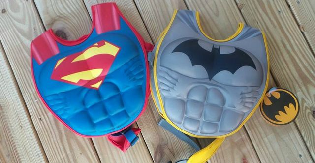 388c162e76ec Edge Brand Batman and Superman Boys 2 Piece 3D Muscle Flotation Vests are  the perfect answer to helping Jaxon.
