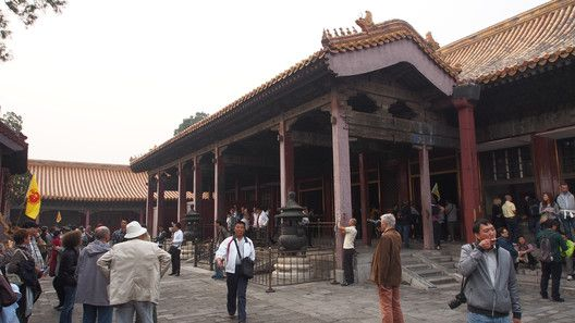 Now Thronged With Tourists The Hall Of Mental Cultivation Once Served As Secluded Residence Later Ming And Qing Emperors
