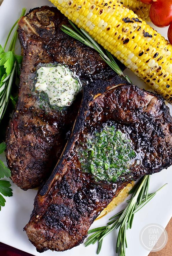 Perfect Grilled Steak with Herb Butter | Iowa Girl Eats | Bloglovin'