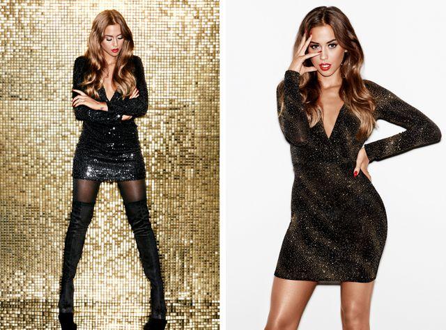 3da0301f3f36 Black sequin dress here // ring here // glitter dress here