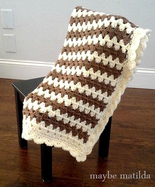 Granny Stripe Baby Blanket Tutorial Part 1 | Maybe Matilda ...