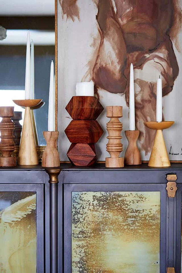 Antiques Candlesticks Frugal Antique Treen A Pair Of Unusual Wooden Candlesticks Modelled In The Form Of Feet