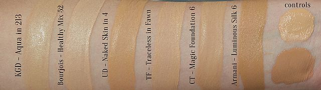 Olive Foundations Amp Swatches Shameless Fripperies