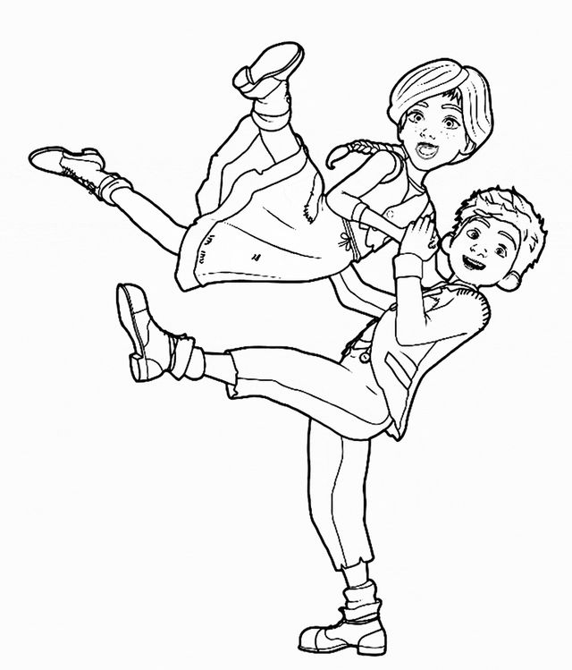 coloring pages make sure to get your tickets early leap opens in theaters nationwide on august 25th and stars elle fanning nat wolff and maddie ziegler - Space Jam Monstars Coloring Pages