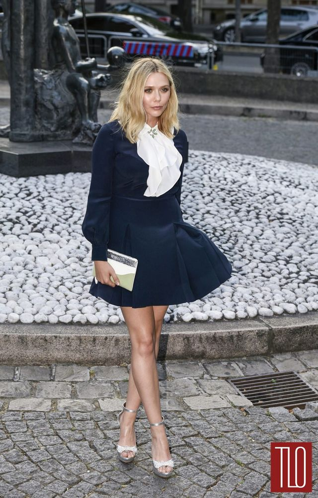 Someday, we will curse the wind that blew up Elizabeth Olsen's skirt this  day.