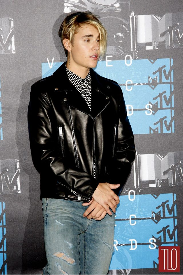 Justin Bieber In Saint Laurent At The MTV Video Music Awards - Justin bieber new hairstyle vma