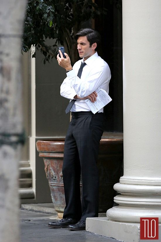 Wes Bentley On The Set Of American Horror Story Tom Lorenzo