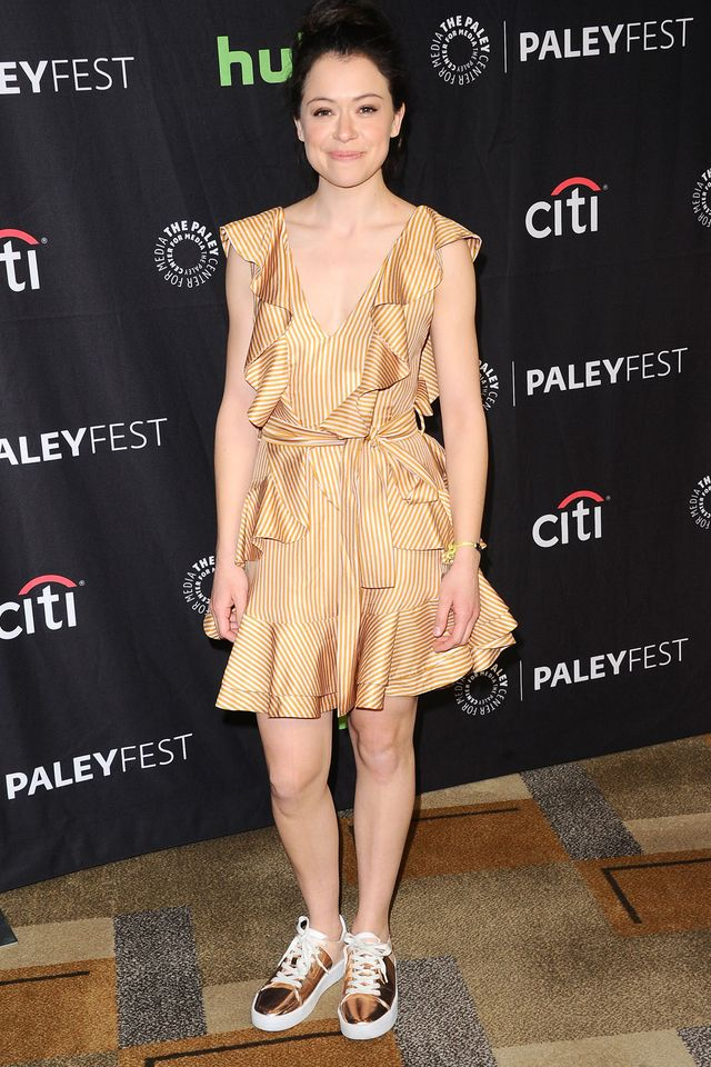 Tatiana Maslany Is Having Comfy Casual Fun At The Paleyfest Orphan