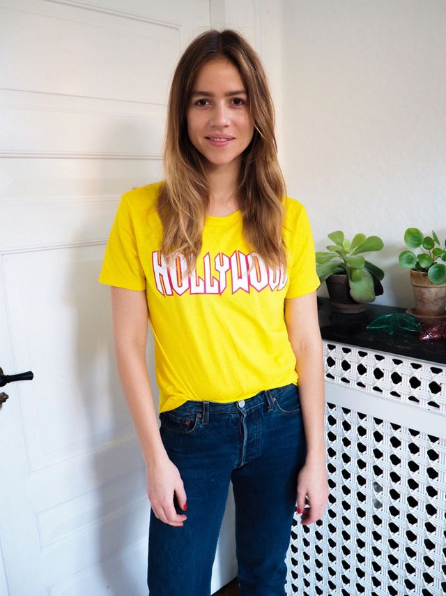 7e5ad0af8d17 Glitter boots and yellow tee