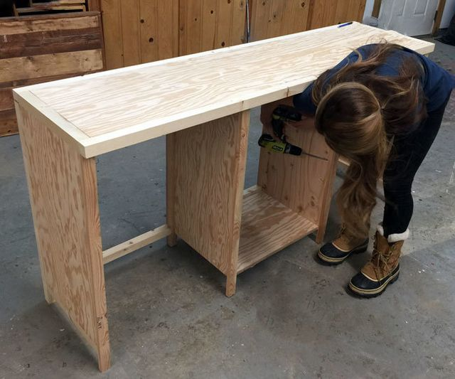 Hidden desk apothecary cabinet knock off wood bloglovin for Diy hidden table