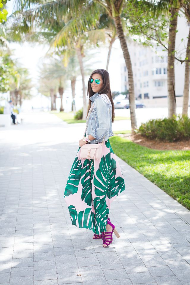 Palm Print Maxi Dress | A Southern Drawl | Bloglovin'