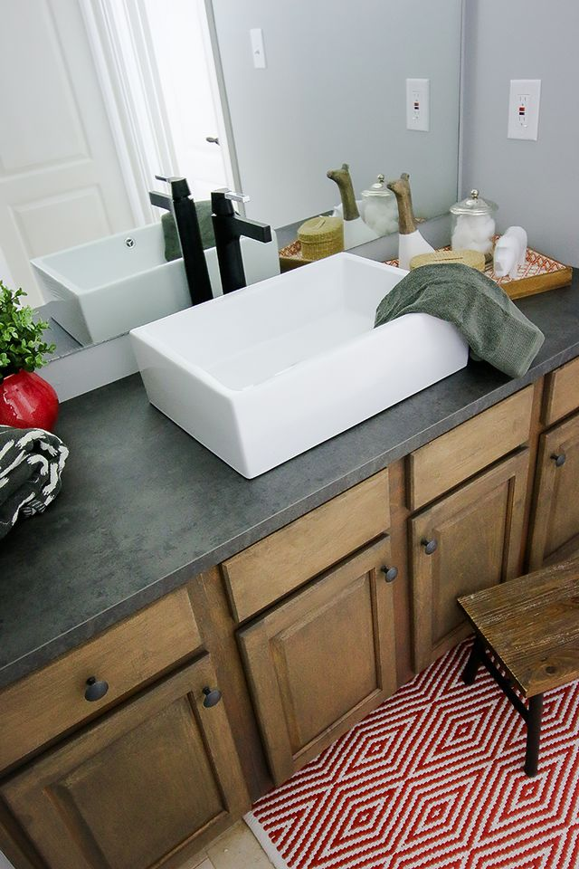 How to refinish a bathroom vanity bower power bloglovin - How to refinish a bathroom vanity ...