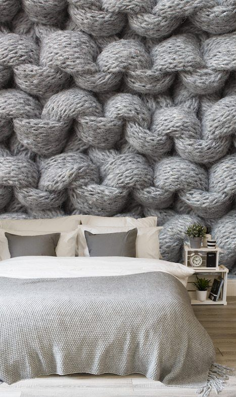 Cover Your Walls With Knit Wallpaper Crochet Concupiscence