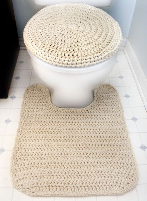 Crochet Pattern Toilet Seat Cover And Contour Rug Crochet Spot