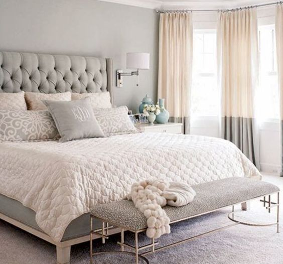 Bedrooms Is Still Neutral But There A Lot Of Pale Gold And Silver Popping Up On The Walls Bedding Fluffy Rugs Are Also Making Comeback