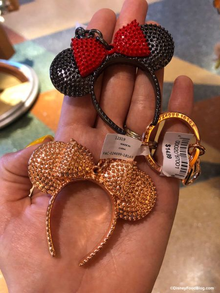 bd705b4007 And, that wasn't the only key chain we found. Check out these bedazzled  Minnie Mouse Ears and Rose Gold Ears key chains!