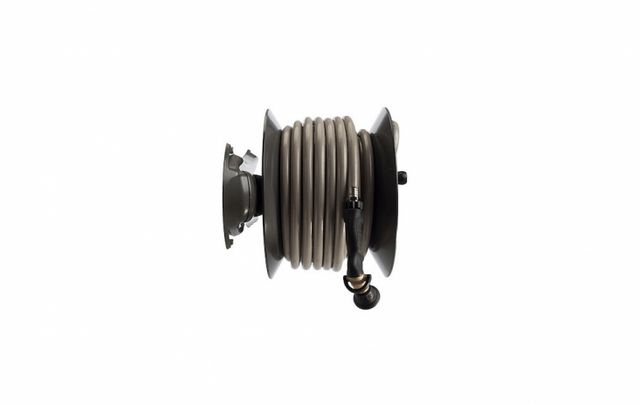 fetching home depot garden hose reel. Above  The Model 1041 Wall Mount Hose Reel can be mounted in either a parallel or perpendicular configuration on wall fence 10 Easy Pieces Crank Reels Gardenista Sourcebook for