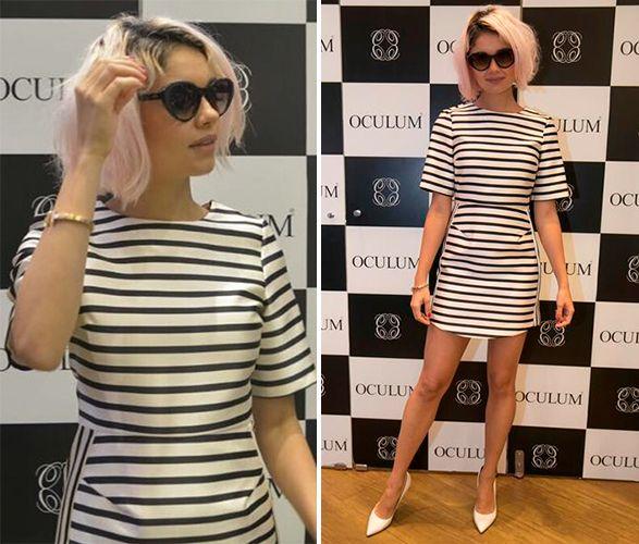 Bom, tô falando tudo isso porque ontem teve um evento com a Sophie Charlotte  em Recife e ela apareceu com esse vestido listrado que despertou aquela ... 4e955331d5