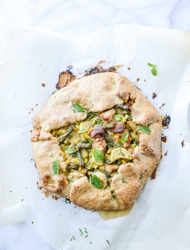 Summer Chicken Pot Pie Crostata with Herbed Crust. | How ...