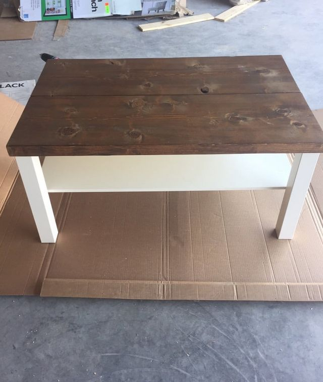 Ikea Lack Coffee Table Legs: Hackin' The Lack Into A Rustic Coffee Table