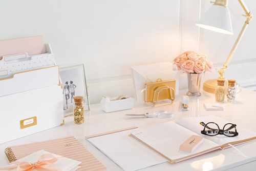 For Target With A New Range Of Office Supplies Featuring All The White And Gold You Could Ever Want Here S Little Inspo To Get Your Desktop In Order