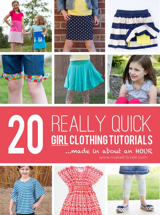 3305bb0002ff 20 QUICK Girl Clothing Tutorials….made in about an hour! | Make It ...