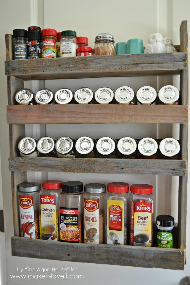 Diy Pallet Spice Rack Make It And Love It Bloglovin