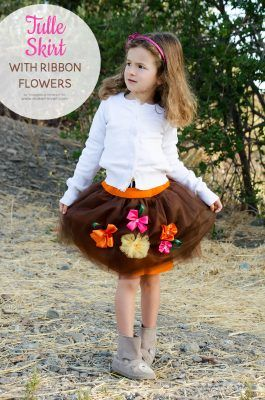 fdd20a8005 Tulle Skirt with Ribbon Flowers | Make It and Love It | Bloglovin'