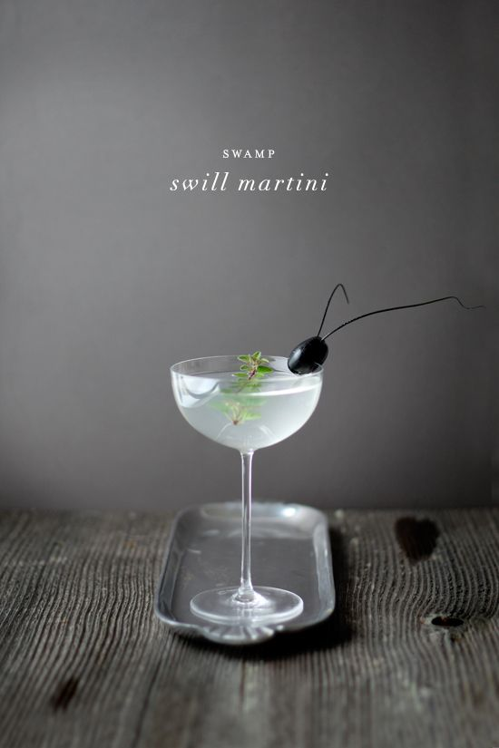 aa94ee9b994 Creepy Cocktails (Part Two): Swamp Swill Martini | Minted. | Bloglovin'