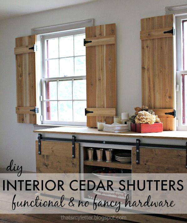 diy interior cedar shutters pretty handy girl bloglovin