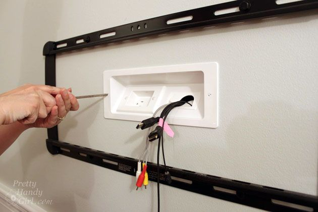 Wall Mounted Tv With Hidden Wires Tutorial Pretty Handy