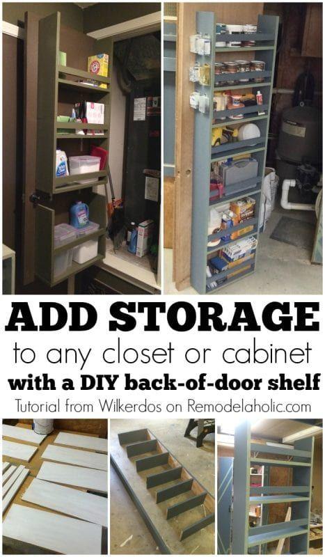 Build An Organized Back Of Door Shelf Remodelaholic Bloglovin