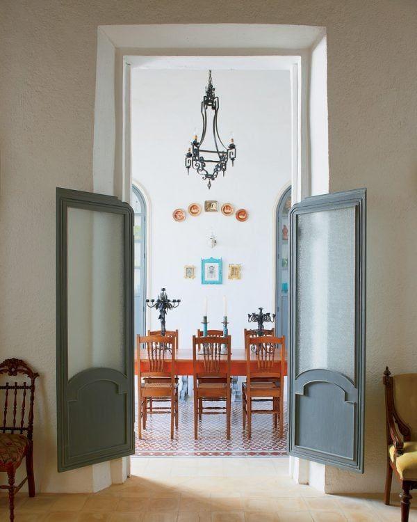 Saloon Style Glass Pane Doors Via Inspirations Deco